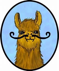 Moustache Llama by UnicornReality on DeviantArt