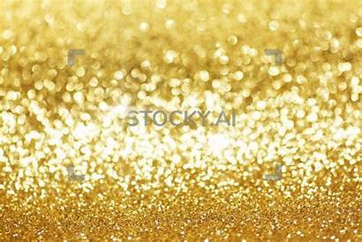 Sparkling Glitter Golden Gifs Celebration Stocky Shiny
