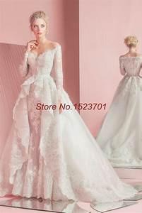 2016 zuhair murad mermaid lace wedding dresses long With zuhair murad wedding gowns