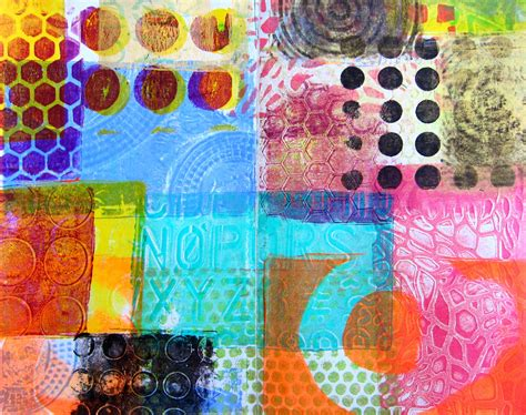 Printing With Gelli Plates  Red Ted Art's Blog