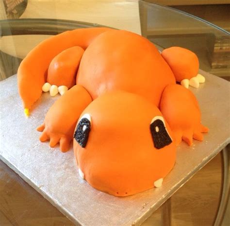 charmander cake   son tyler cupcake cookies