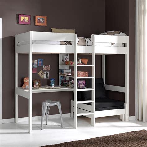 lit mezzanine 2 places avec bureau lit mezzanine avec fauteuil et bureau aubin zd1 lit sur