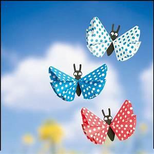 Basteln Mit Eierkartons Frühling : butterflies made of paper paper basteln basteln fr hling kinder en basteln mit kindern ~ Frokenaadalensverden.com Haus und Dekorationen
