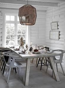 Solde Table A Manger : int rieur blanc et bois 40 id es inspirantes emprunter ~ Teatrodelosmanantiales.com Idées de Décoration
