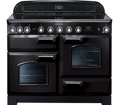buy rangemaster classic deluxe 110 electric induction range cooker black chrome free