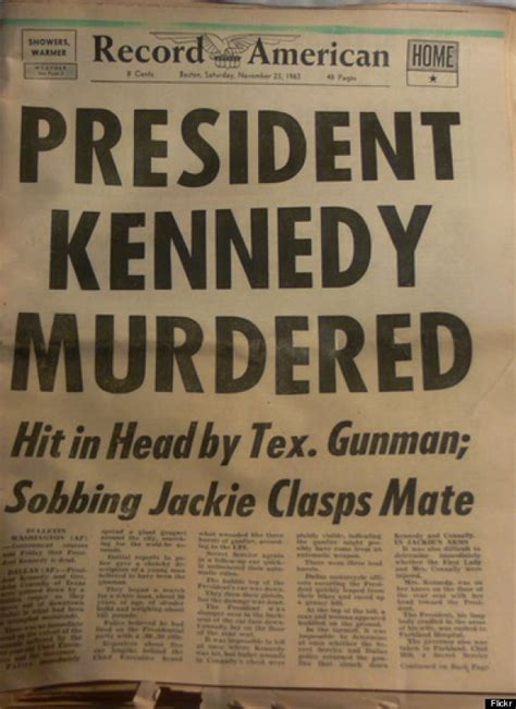 worlds newspapers reported jfks assassination