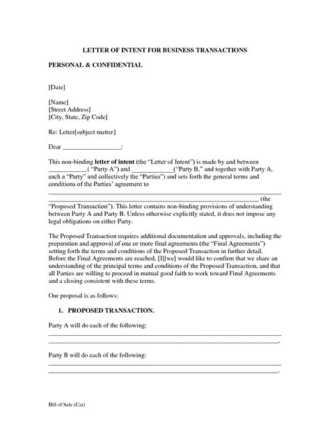 startup equity letter intent template