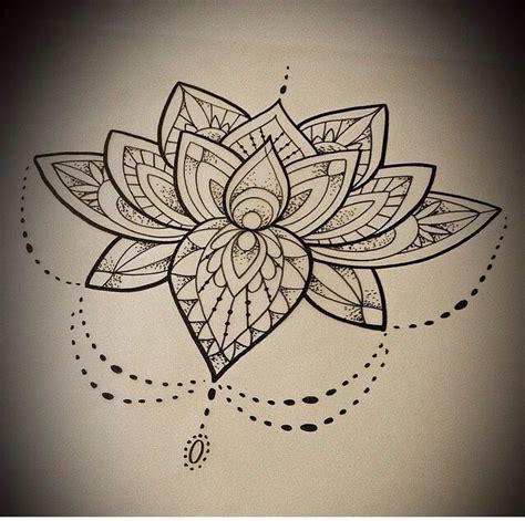 dotwork mandala lotus flower tattoo design