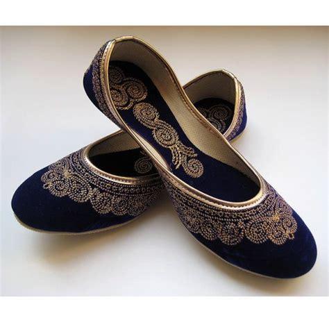 Royal Blue Shoesblue Flatsgold Shoesethnic Shoesvelvet