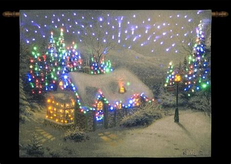 xmas wall decoration hanging tapestry led christmas lights