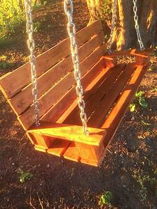 Tree Swing made from Wooden Pallet then finished with ...