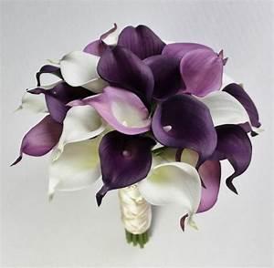 Wedding Bouquet Purple Calla Lily Bouquet Purple Bouquet ...