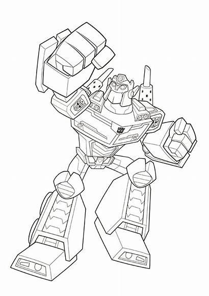 Rescue Bots Transformers Coloring Bot Fun Optimus