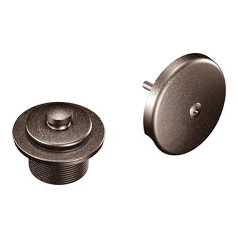 bronze sink drain assembly moen t90331orb tub drain half kit with push n lock drain