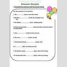 Simple Present Tense Kids Worksheet  Activities  Pinterest  Tenses Exercises, Worksheets And