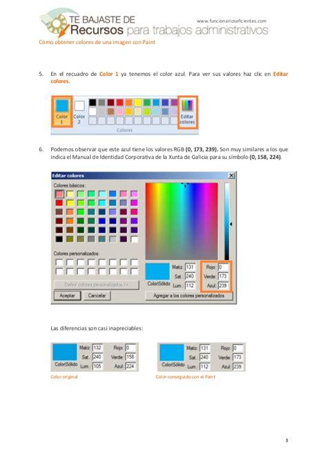 c 243 mo obtener colores de una imagen con paint tutorial en