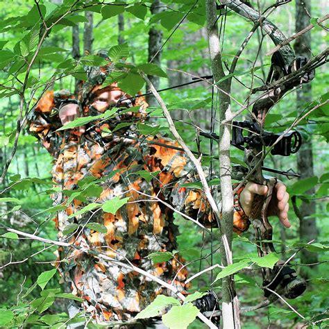 can deer see blaze orange blaze orange 3d leafy camo camouflage ghillie suit for