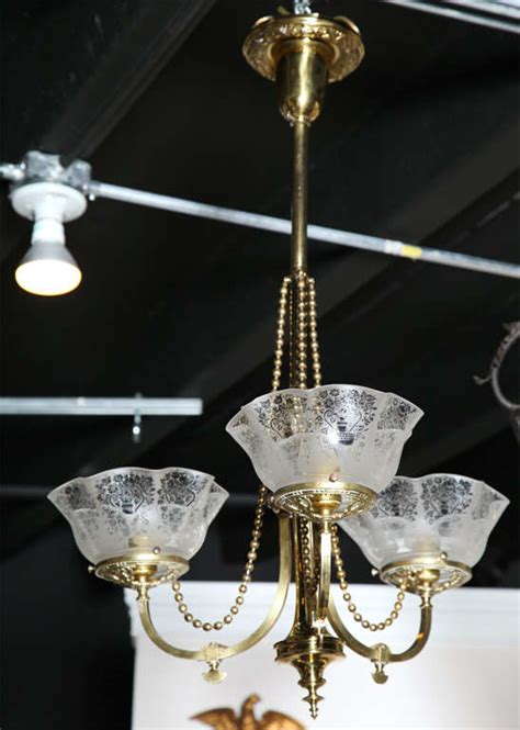antique brass gas light fixture at 1stdibs