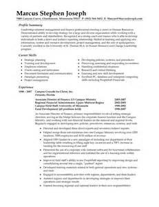exle resume career summary the resume summary exles resume format web