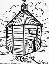 Barn Coloring Farm Tall sketch template