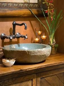 Lavabo En Pierre Naturelle : la vasque en pierre en 72 photos ~ Premium-room.com Idées de Décoration