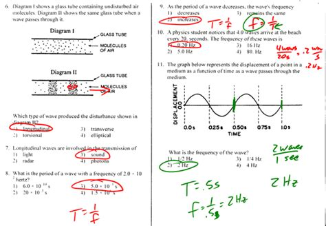 all worksheets 187 the nature of sound waves worksheet