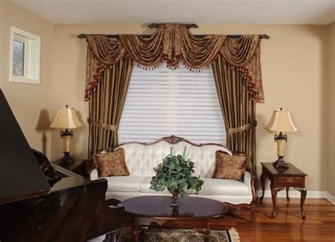 swag curtain ideas for living room living room swags traditional curtain rods