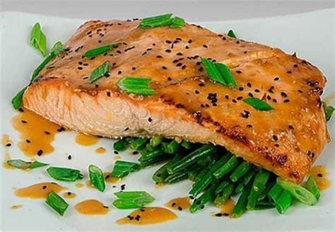 Faroe Islands Salmon with Miso Sesame Ginger Glaze Recipe
