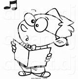 Singing Cartoon Boy Choir Coloring Outline Children Clipart Vector Dj Leishman Getdrawings Ron sketch template