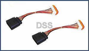 Genuine Porsche Headlight Wiring Harness Cayenne Lamp Xenon Front Connector  X2