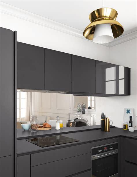 le plan de travail cuisine un plan de travail noir mat pour une cuisine contemporaine