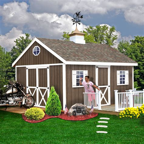 storage shed kits sears best barns easton 12x20 shed kit lawn garden sheds