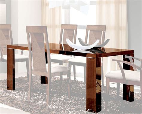 high glass dining table dining table in high gloss walnut finish 33d62