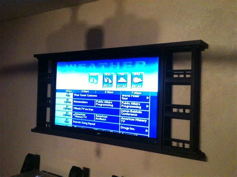 ana white country style wall mount  bedroom tv diy