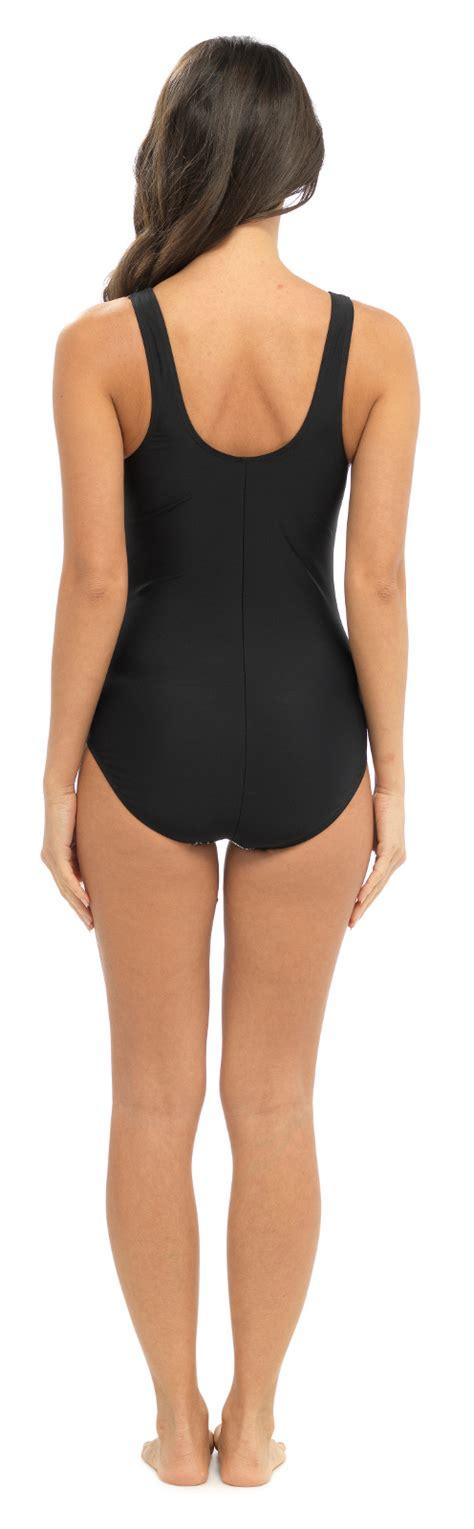 Womens Swimming Costume Support Control Panel Swimwear Ladies Size UK 12 - 24 | eBay