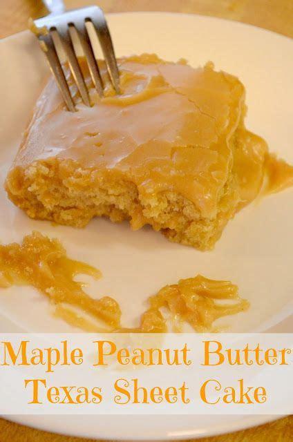maple peanut butter texas sheet cake   atpeanut