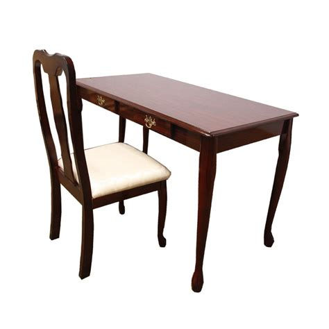 cherry finish writing desk and chair set style