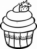 Cupcake Para Colorear Line Drawing Cliparts Clipart Cupcakes Fun Teachers Imagenes Library Clip Fondos Uploaded User Favorites sketch template