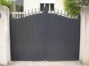 Portail Fer Forgé Plein : portail mod le amboise plein battant en aluminium alu ~ Dailycaller-alerts.com Idées de Décoration