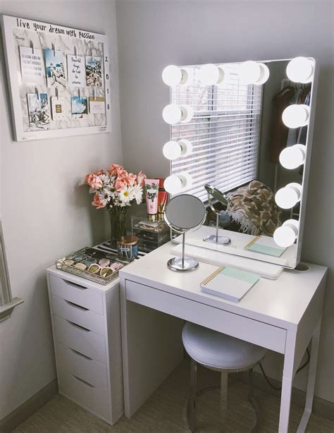 vanity ideas for small bedrooms cute vanity set up perfect for small places i purchased 20062 | 8c7d405ff2222fc05c2445508c89aeff