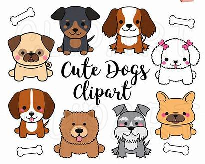 Clip Clipart Puppy Kawaii Dogs Dog Poodle