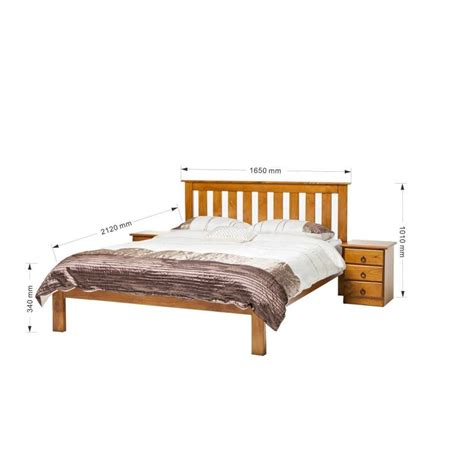 vegas solid pine queen bed frame  blackwood stain buy queen bed frame