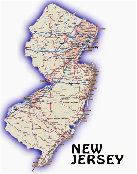 state map   jersey  printable maps