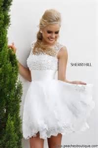 brautkleider kurz shop sherri hill lace a line reception dress 4302
