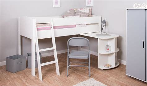 Mid Sleeper With Sofa Bed by Mi Zone M2 Mid Sleeper Bed Frame Desk Bensons For Beds