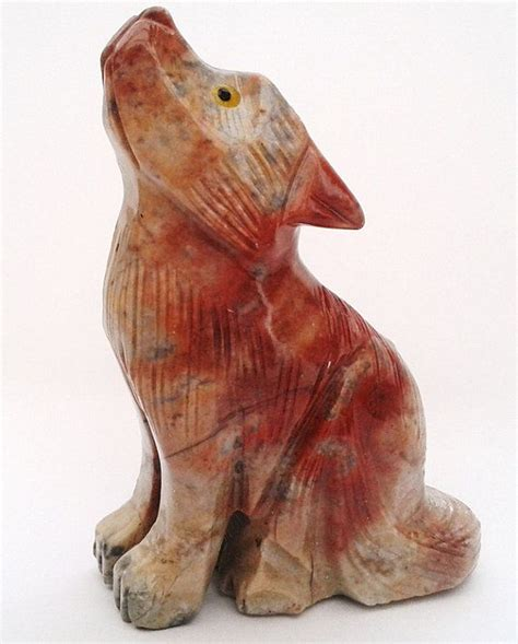 Soapstone Ideas by Carved Soapstone Howling Wolf Figurine No6 Size 3 By