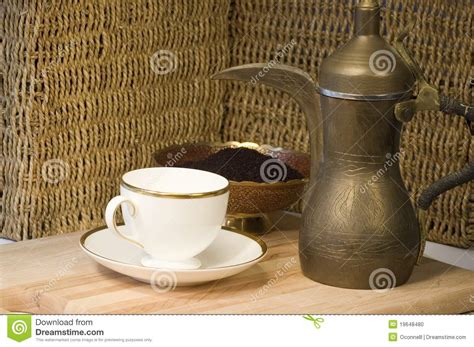Brass Jordanian Coffee Pot, Teacup & Groun Stock Photo Coffee To Go Film Hero Gif And Machine Windows Alone Mcdonald's Sugar Free Vanilla Keto French Translation In Der N�he