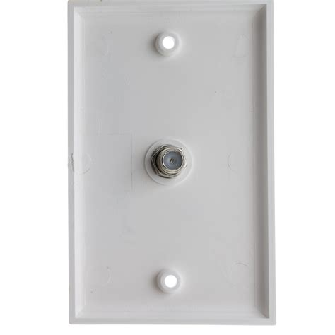 Tv Plate White Tv Wall Plate F Pin Coupler