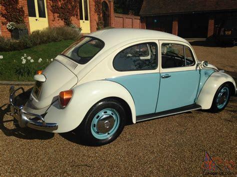 volkswagen bug blue vw beetle 1974 blue cream
