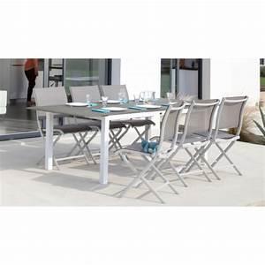 Table De Jardin Extensible Aluminium : table de jardin florence extensible en aluminium oc o ~ Melissatoandfro.com Idées de Décoration